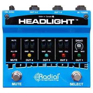 RADIAL ENGINEERING TONEBONE HEADLIGHT GUITAR AMP SELECTOR R800 7096 00