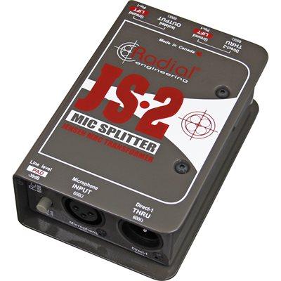 RADIAL ENGINEERING JS2 MICROPHONE SPLITTER R800 1022 00