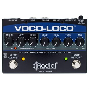 RADIAL ENGINEERING VOCO-LOCO EFFECTS SWITCHER FOR VOICE OR INSTRUMENT R800 1425 00