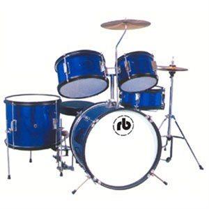 RB DRUMS RB-JR5-SBL JUNIOR 5-PIECE SPARKLE BLUE (16BD, 8T, 10T, 13F, 12SD)