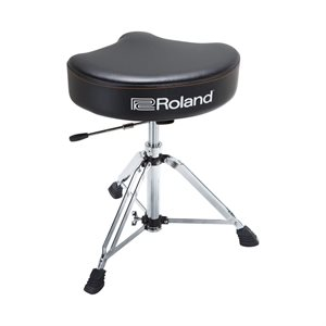 ROLAND RDT-SHV ADDLE DRUM THRONE WITH RUGGED VINYL SEAT AND HYDRAULIC ADJUSTMENT