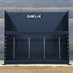 QUIKLOK RS-672 SHELF RACK STANDARD 19 2-SPACE RACK SHELF WITH 2 LOCKING BRACES