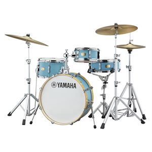 YAMAHA STAGE CUSTOM HIP SBX0F4H3-MSG 4-PIECE, MATTE SURF GREEN (2008BD, 1005T, 1308FT, 1305SD) WITH CROSSTOWN ADVANCED LIGHTWEIGHT HW3