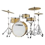 YAMAHA STAGE CUSTOM HIP SBX0F4H3-NW 4-PIECE, NATURAL WOOD (2008BD, 1005T, 1308FT, 1305SD) WITH CROSSTOWN ADVANCED LIGHTWEIGHT HW3