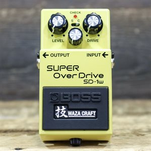 BOSS SD-1W SUPER OVERDRIVE SPECIAL EDITION WAZA CRAFT OVERDRIVE EFFECT PEDAL W/BOX #Z8E7467