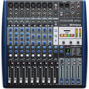 PRESONUS STUDIOLIVE AR12C 12-CHANNEL USB-C COMPATIBLE AUDIO INTERFACE / ANALOG MIXER / STEREO SD RECORDER