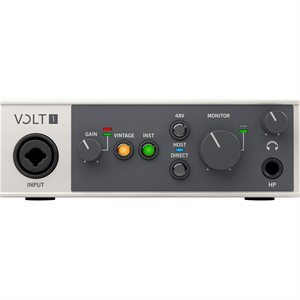 UNIVERSAL AUDIO VOLT 1 DESKTOP 1-IN/2-OUT USB 2.0 AUDIO INTERFACE WITH PROFESSIONAL AUDIO CONVERSION