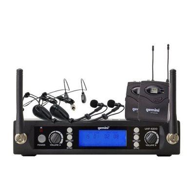 GEMINI UHF-6200HL-R2 PLL HEADSET DUAL 512 TO 537.5