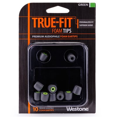 WESTONE 62804 EMBOUT GREEN (10 PAQ)