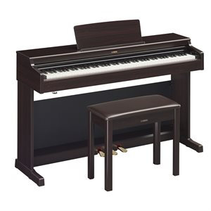 YAMAHA ARIUS YDP-164 DIGITAL PIANO WITH BENCH, ROSEWOOD