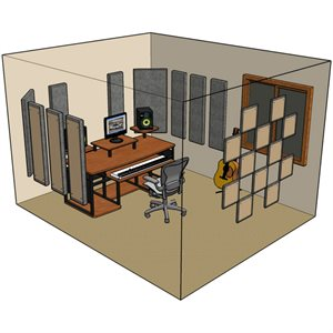 PRIMACOUSTIC LONDON 12 ROOM KIT BLACK Z900 0120 00