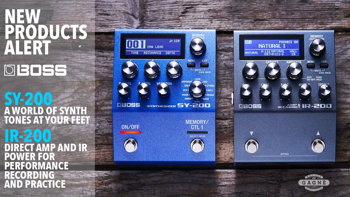 New BOSS Products IR-200 and SY-200